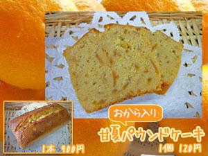 【季節限定】甘夏をたっぷり混ぜたパウンドケーキ(おから入り)
